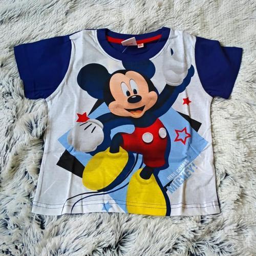 Tričko Mickey modro-bílé 98