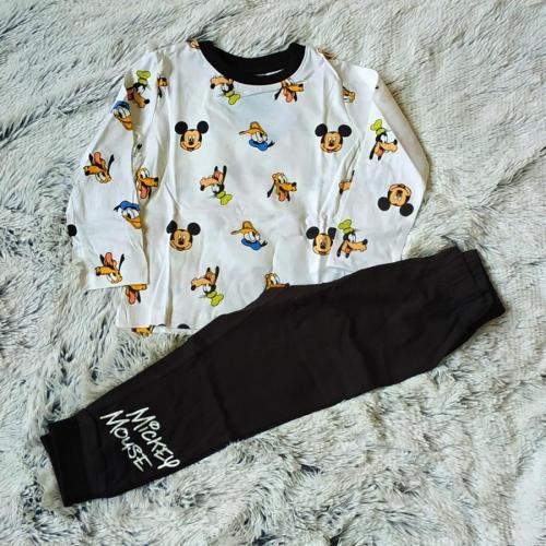 Pyžamo Mickey bílo-černé 98