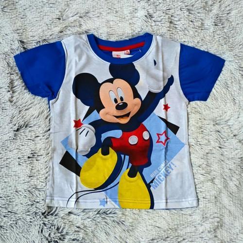 Tričko Mickey světle modro-bílé 104