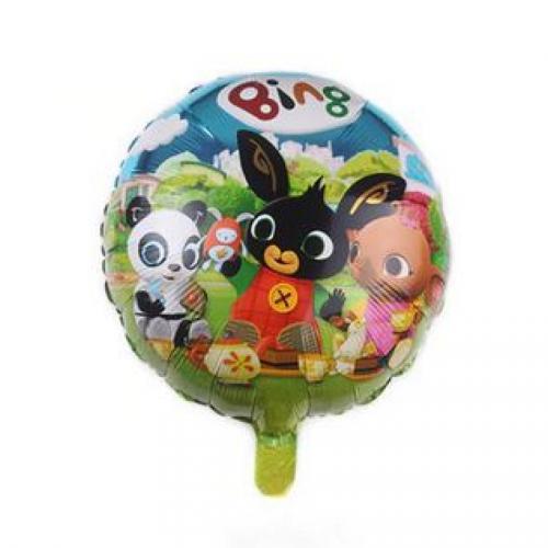 Králíček Bing fóliový balónek kulatý modrý