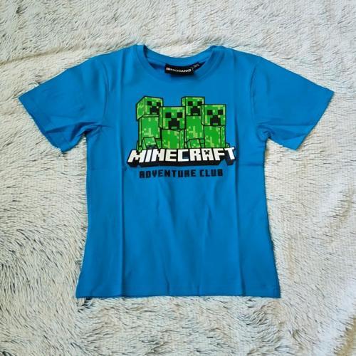 Minecraft tričko modré 122