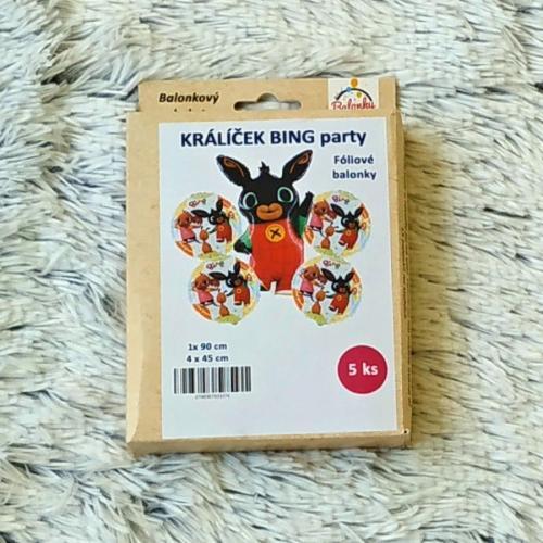 Králíček Bing sada balonků 5 ks