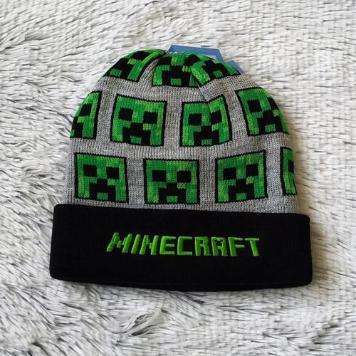 Minecraft zimní čepice šedá 52