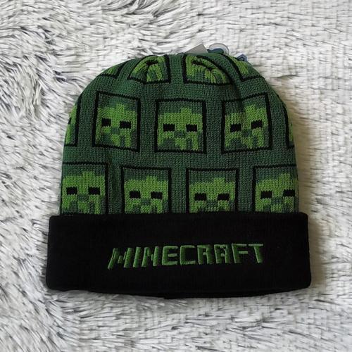 Minecraft zimní čepice zelená 54