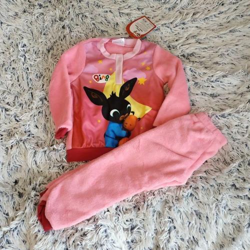 Králíček Bing pyžamo teplé růžové