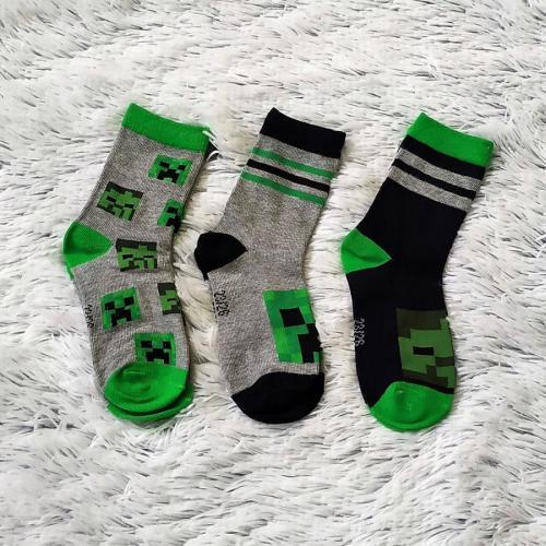 Minecraft ponožky 3 páry 23-26