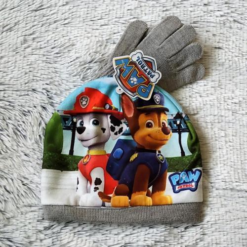 Tlapková Patrola set čepice a rukavice 54
