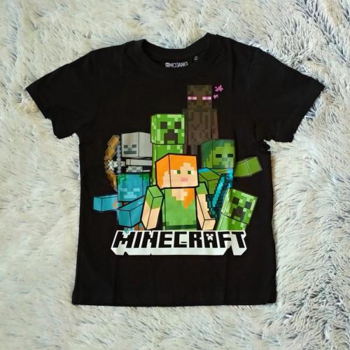Minecraft tričko černé 152