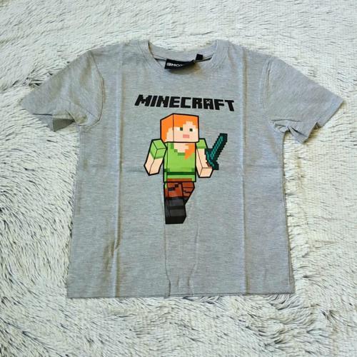 Minecraft tričko šedé 146