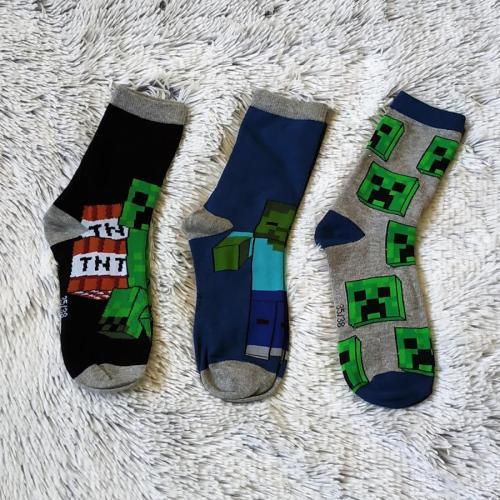 Minecraft ponožky 3 páry 31-34