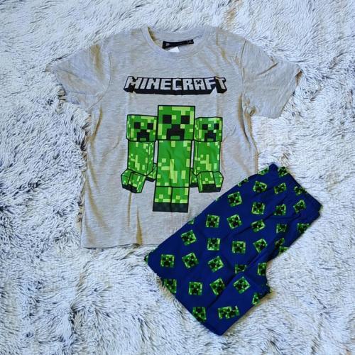 Minecraft pyžamo šedo-modré 152