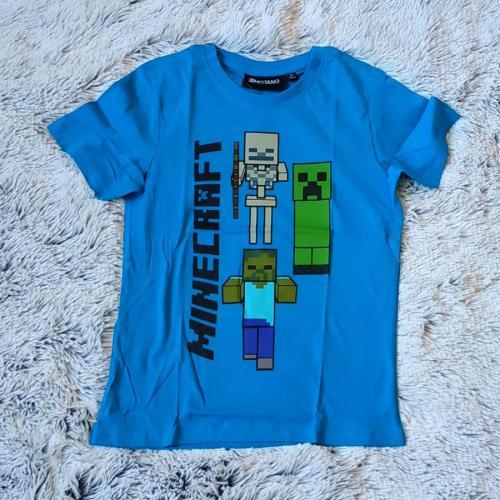 Minecraft tričko modré 152