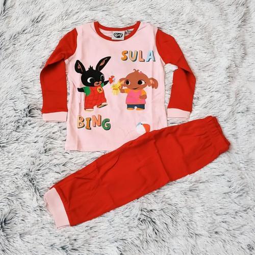 Králíček Bing pyžamo červené 110