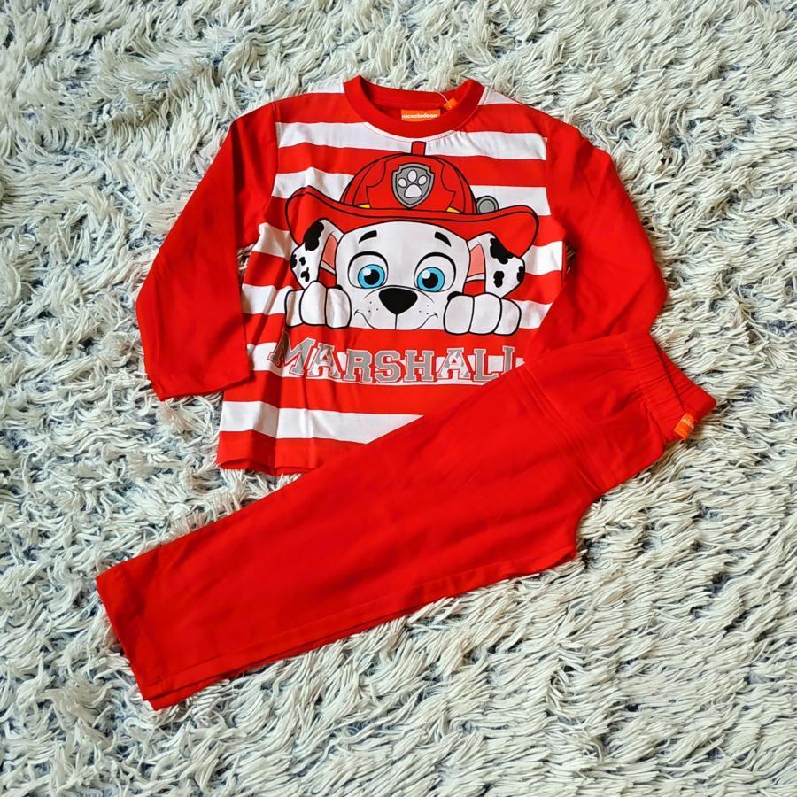 Pyžamo Tlapková Patrola červené 98