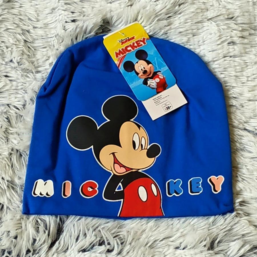Jarní čepice Mickey světle modrá