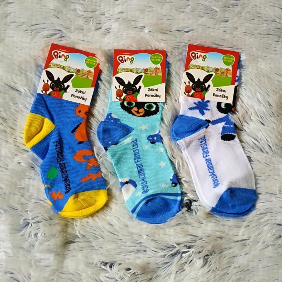 Bing ponožky set 3 páry 31/34