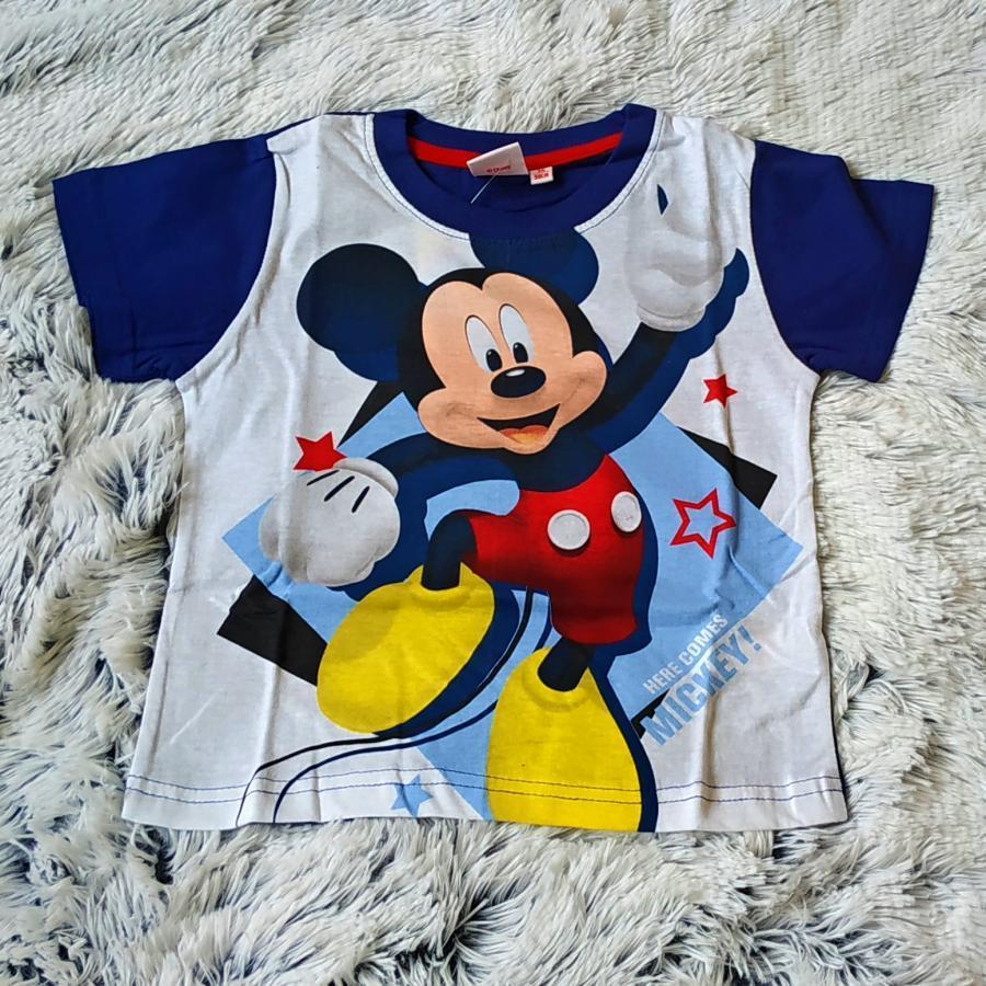 Tričko Mickey modro-bílé 110