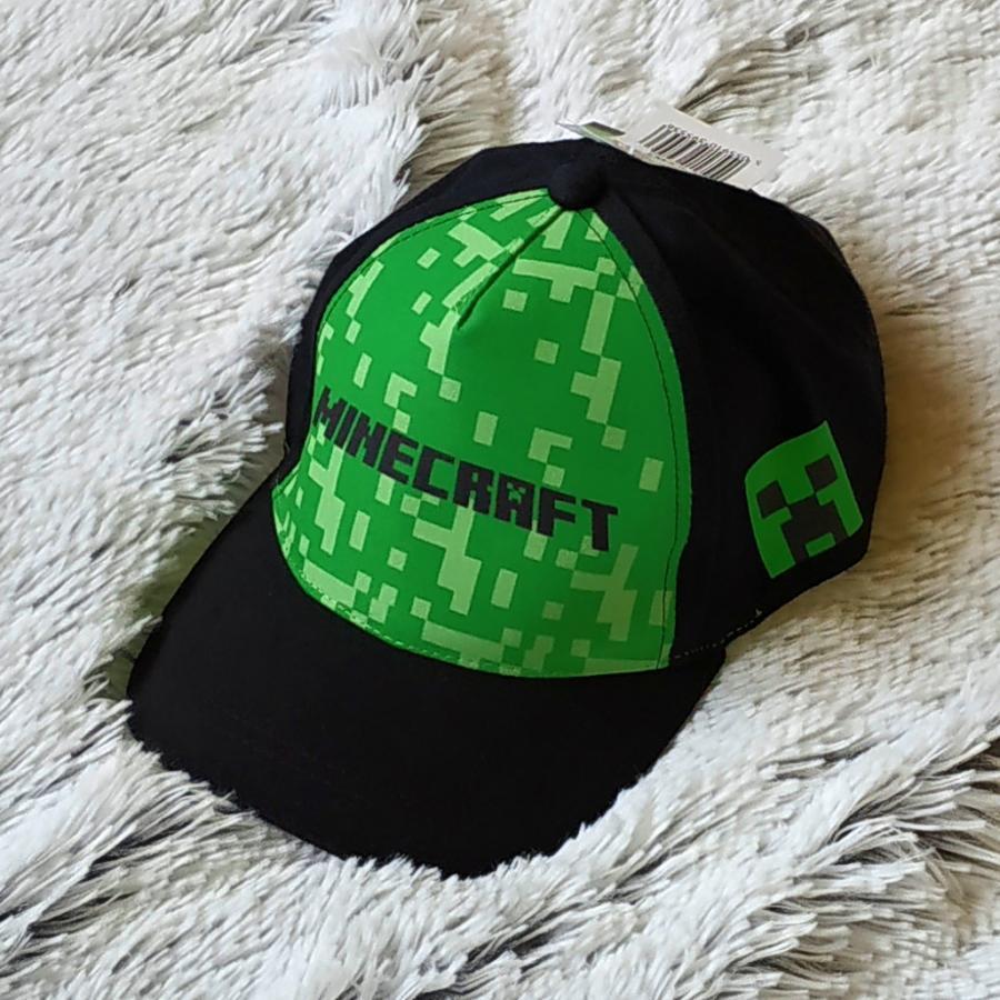 Kšiltovka Minecraft černo-zelená vel. 56