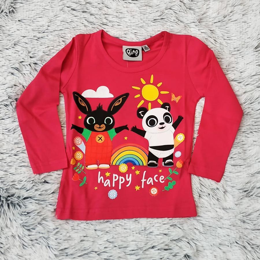 Králíček Bing tričko tm. růžové 98