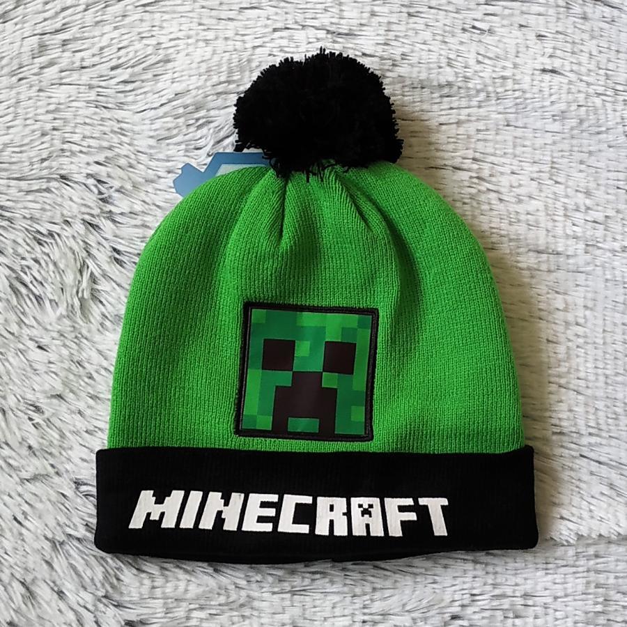 Minecraft zimní čepice zelená 52
