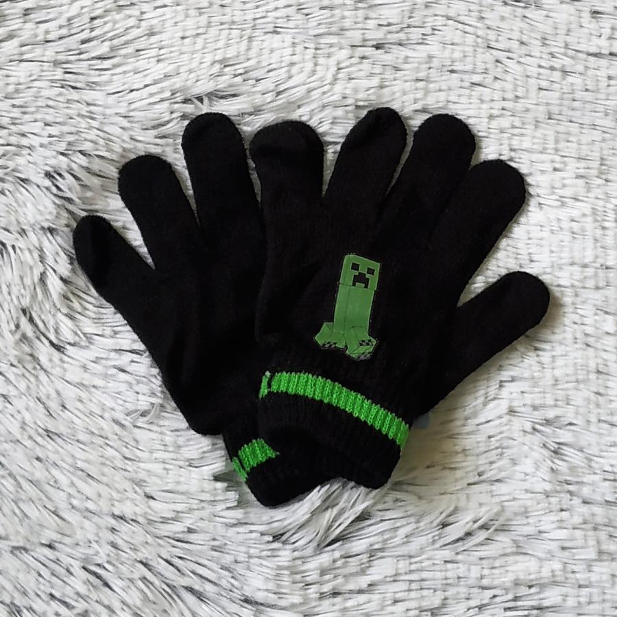 Minecraft rukavice černé