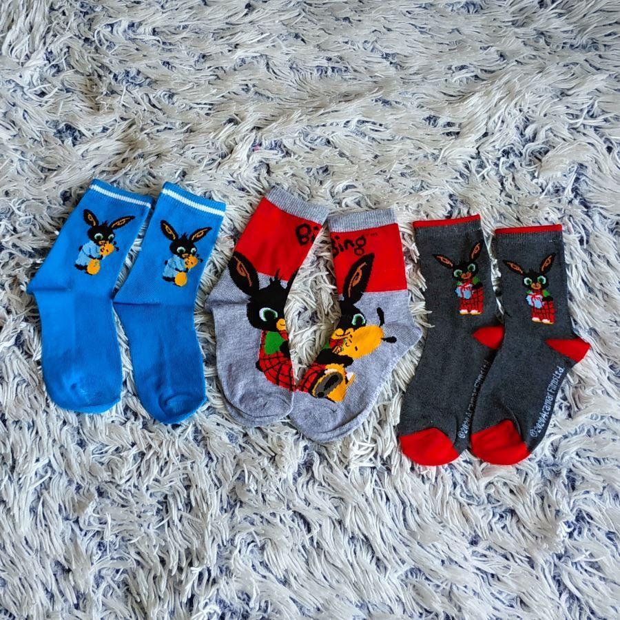Bing ponožky 19/22 set 3 páry