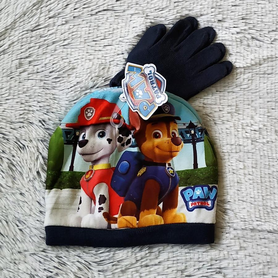 Tlapková Patrola set čepice a rukavice 52