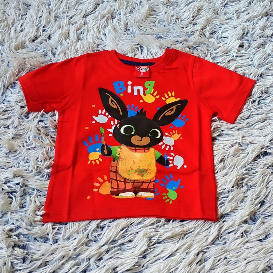 Králíček Bing tričko červené 92