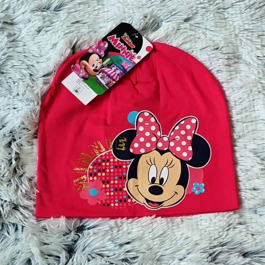 Jarní čepice Minnie tmavě růžová