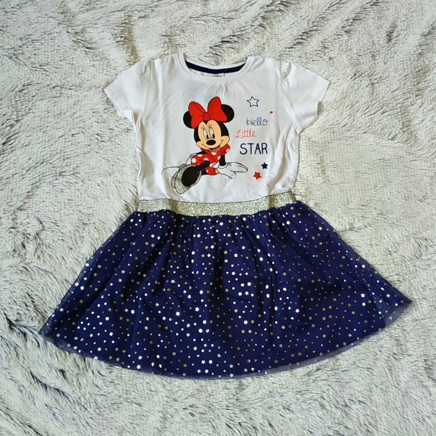 Minnie dívčí šaty s tylovou sukní 116