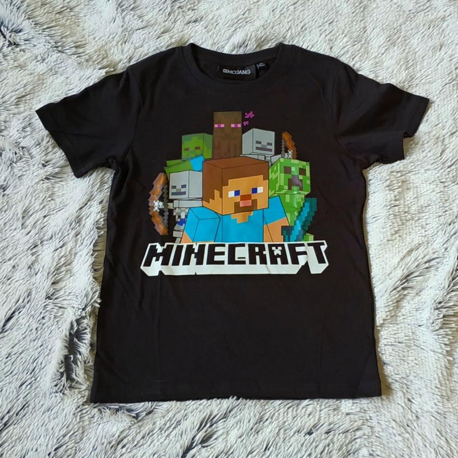 Minecraft tričko černé 128