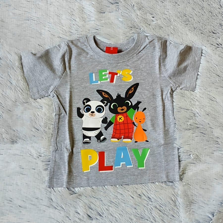 Králíček Bing tričko šedé Play 92