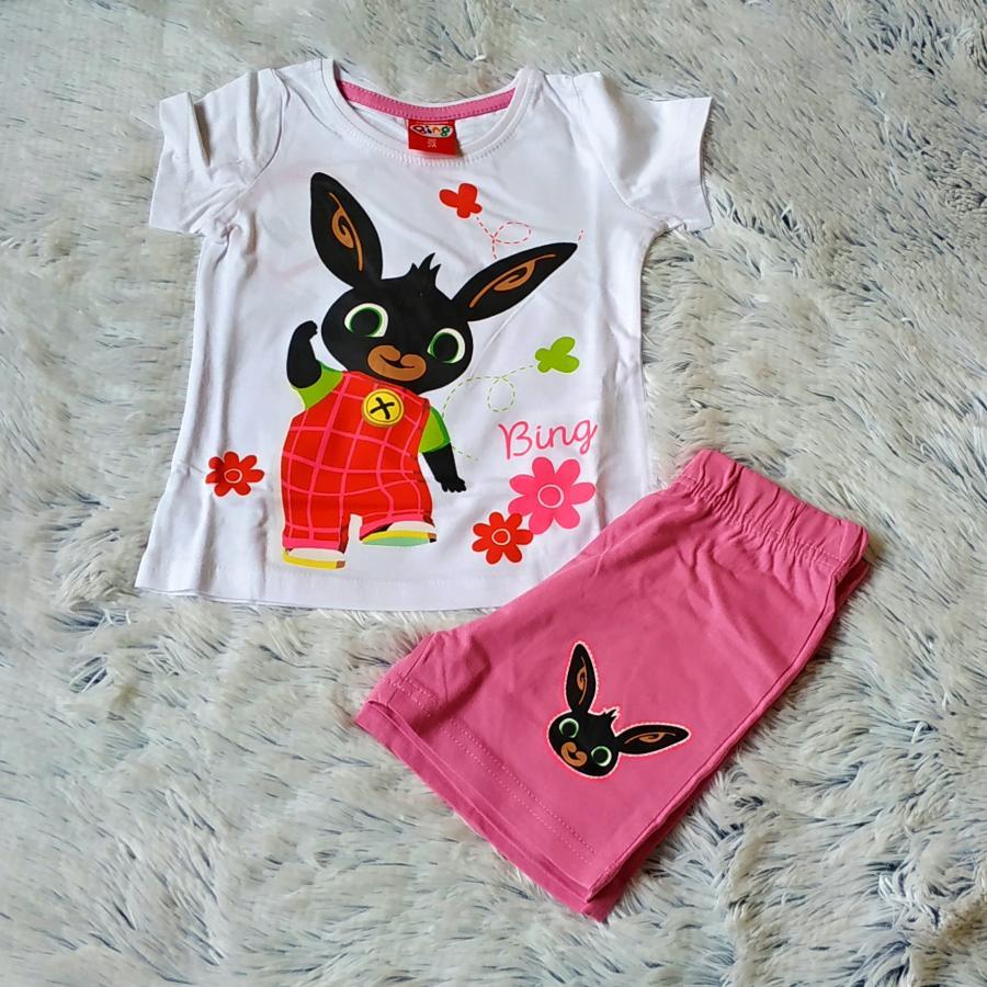 Letní pyžamo Bing bílo-růžové 98