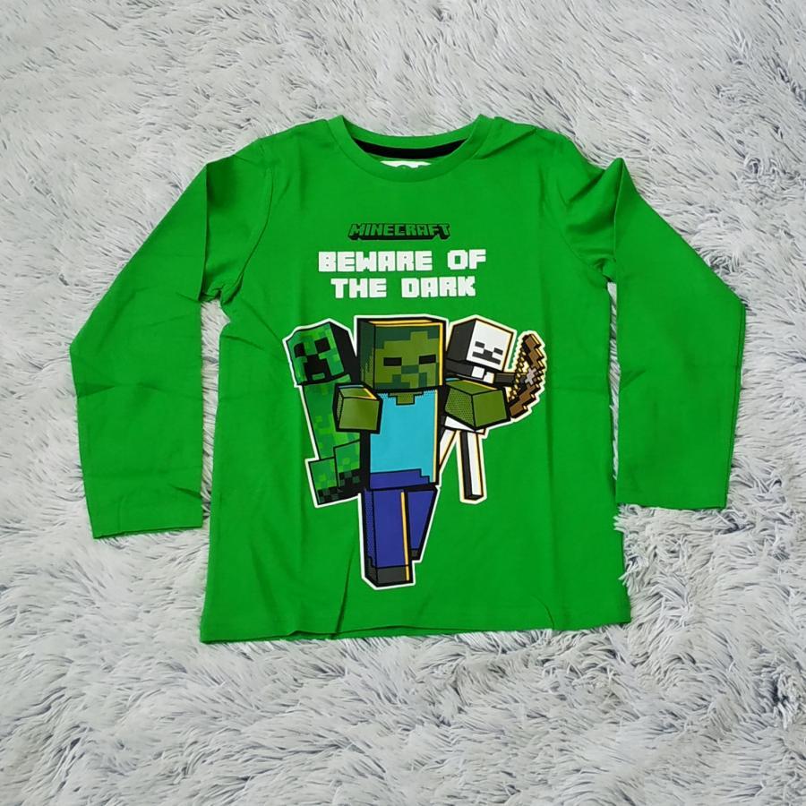 Minecraft tričko zelené Zombie 128