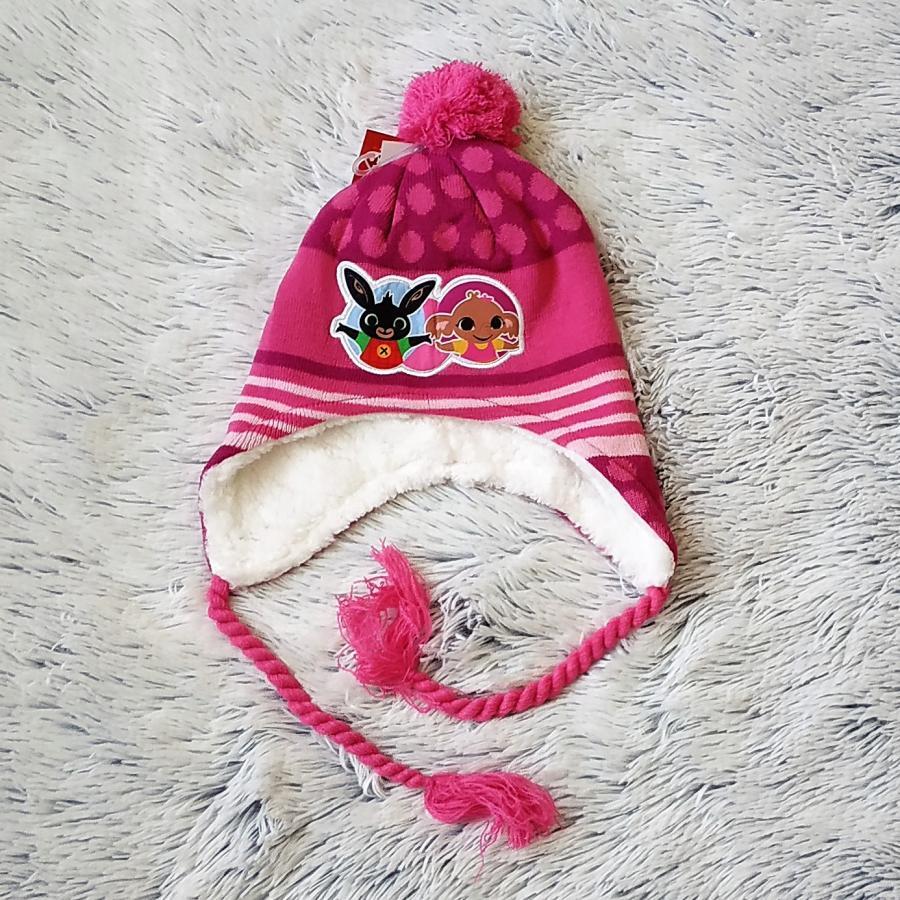 Peru čepice králíček Bing růžová 54