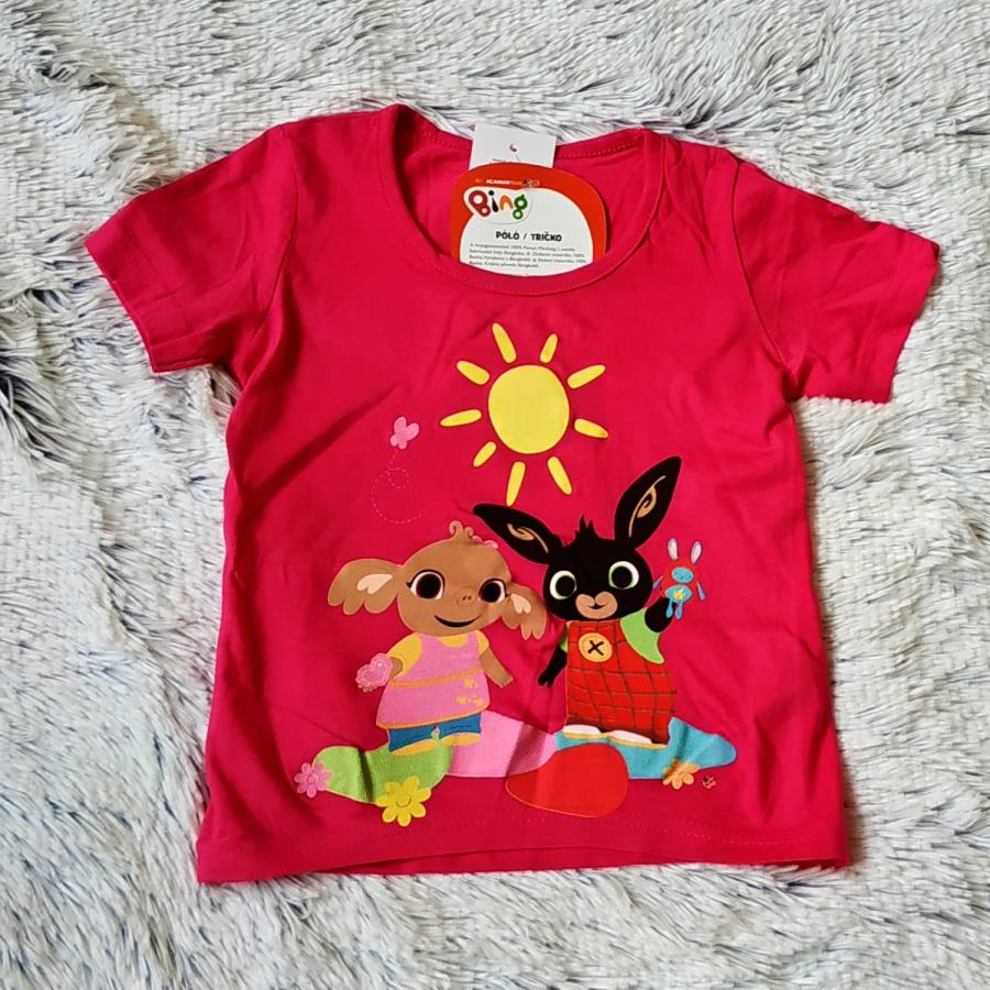 Tričko Bing růžové Bing a Sula 110