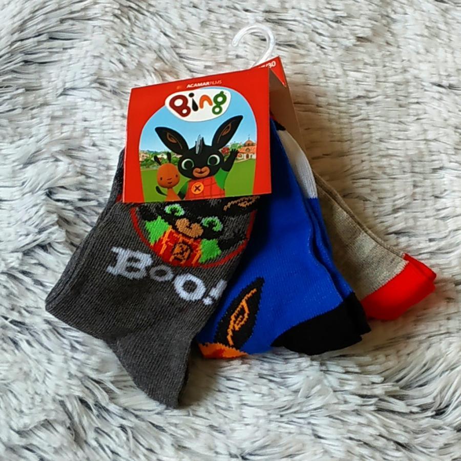Bing ponožky set 3 páry 19/22