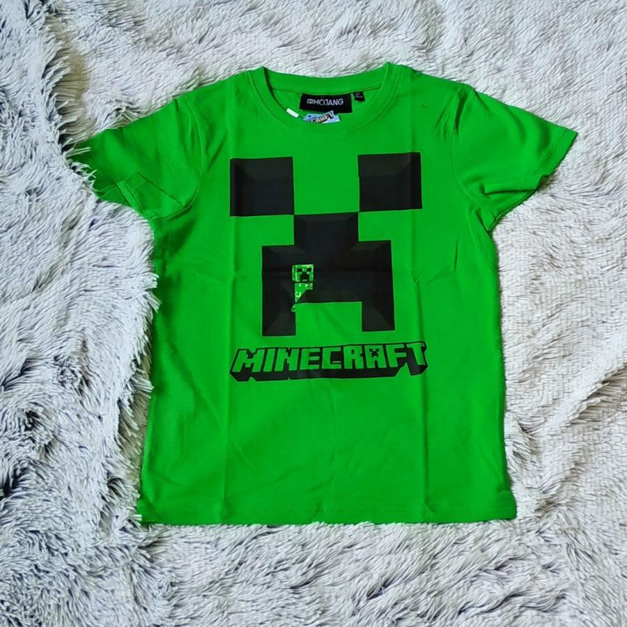 Minecraft tričko zelené 140