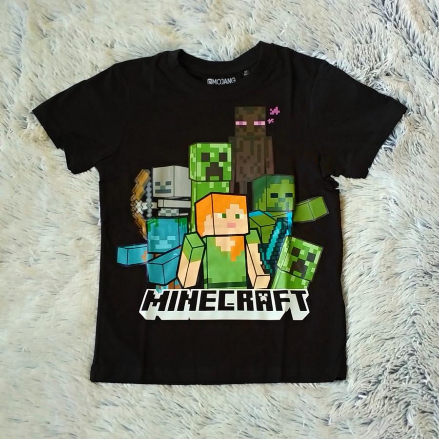 Minecraft tričko černé 140
