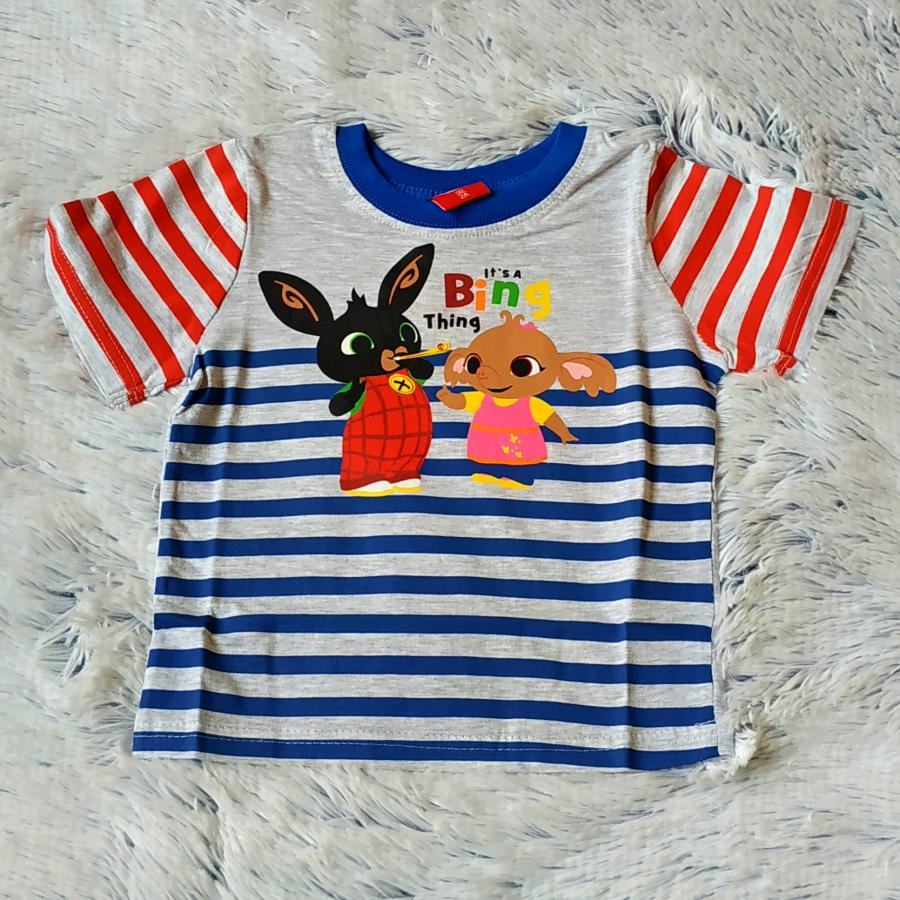 Králíček Bing tričko proužky 110