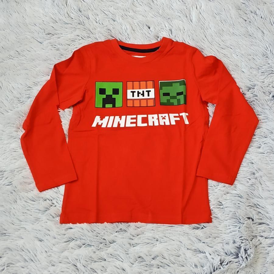 Minecraft tričko červené 140