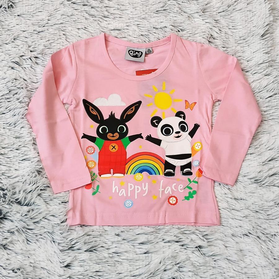 Králíček Bing tričko sv. růžové 110