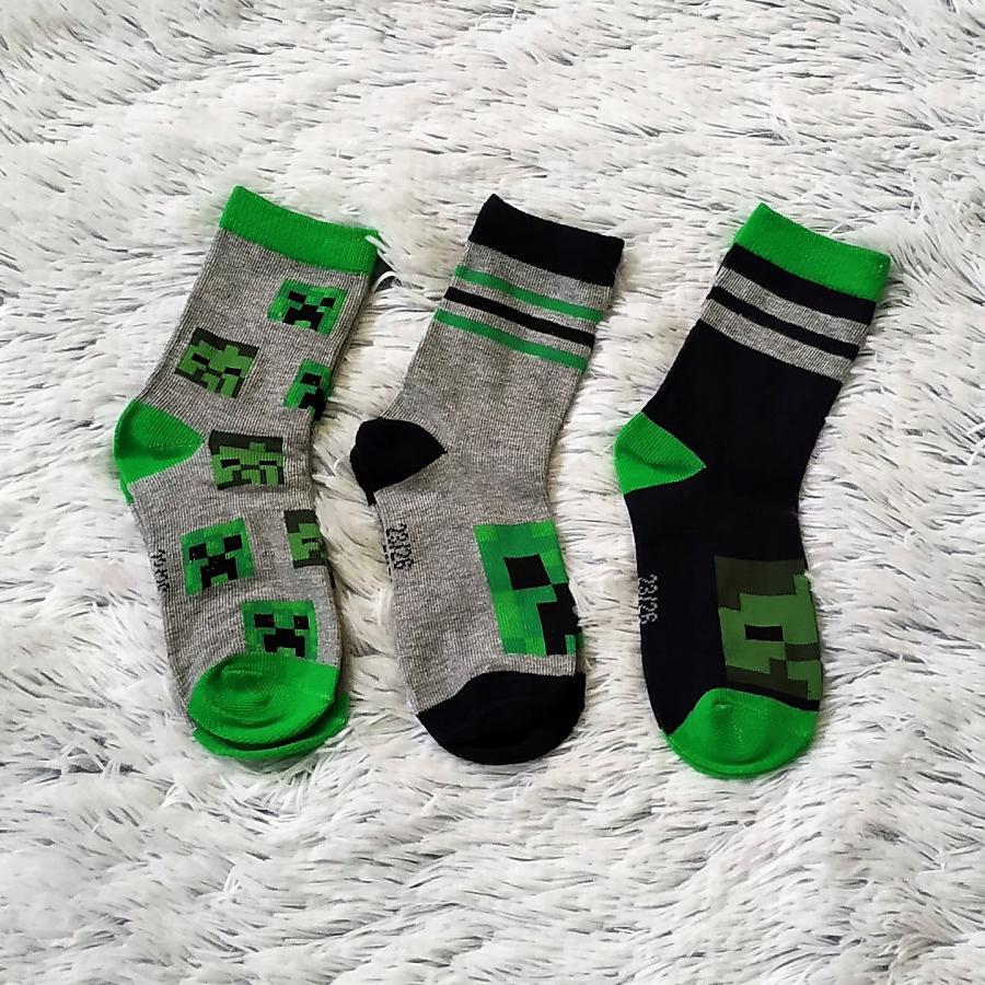 Minecraft ponožky 3 páry 35-38