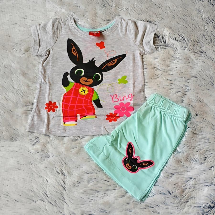 Letní pyžamo Bing šedo-zelené 116