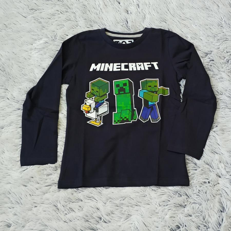Minecraft tričko tm. modré 152