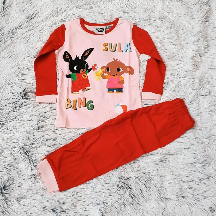 Králíček Bing pyžamo červené 116