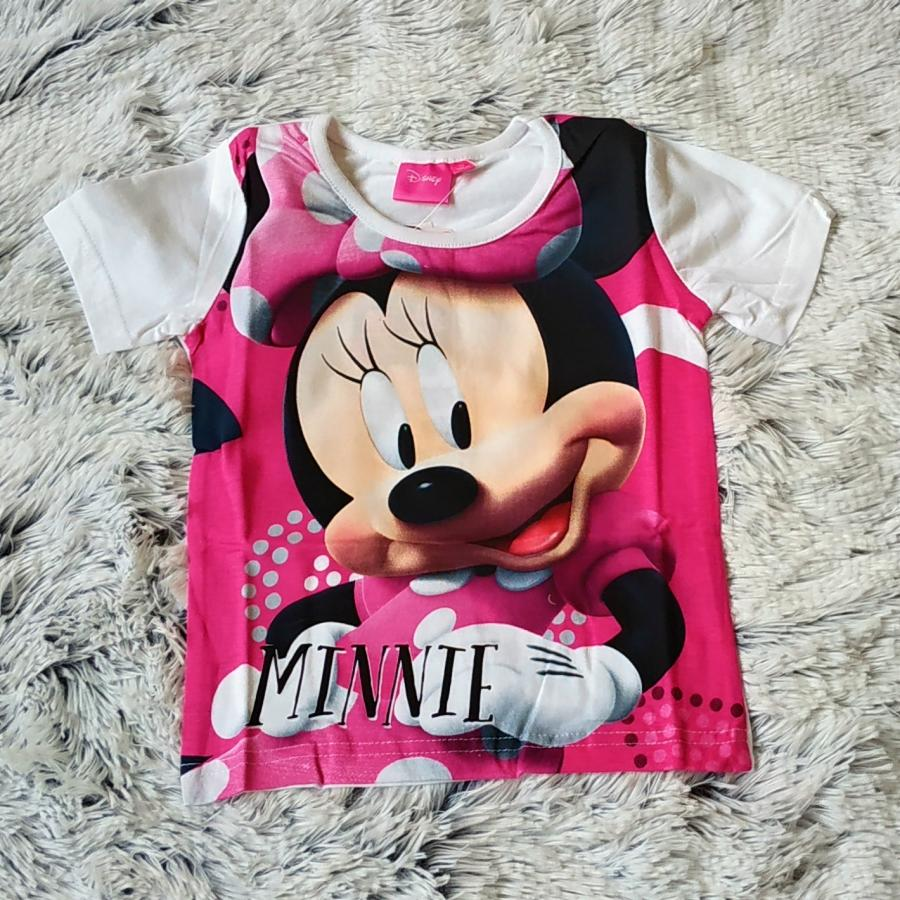 Tričko Minnie růžovo-bílé 128